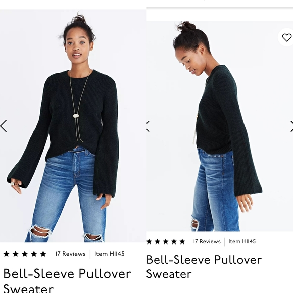 Madewell Bell-Sleeve Pullover Sweater